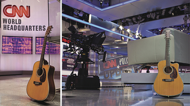 Stephen Arnold's 2001 Custom Martin Cut-Away. This guitar was in the limelight throughout Stephen's early years working with CNN.