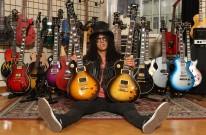 Slash with his Custom series Les Paul Guitars