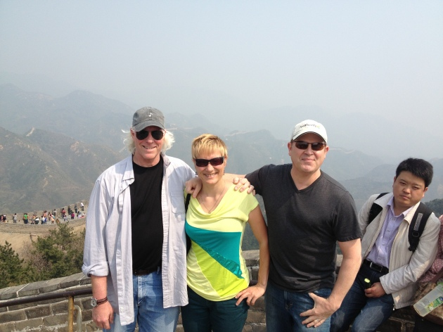 Chad with Stephen on the Great Wall Of China (producing a project for CCTV China)