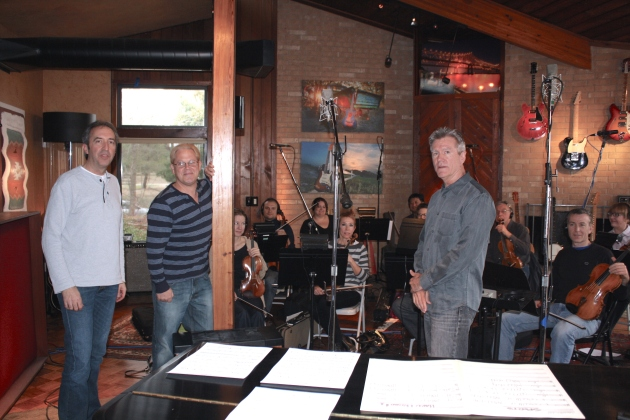 "String session for ""Guardian"" with Paul West, Chad Cook, and Mack Price"