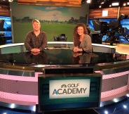 With Chad on set at Golf Channel
