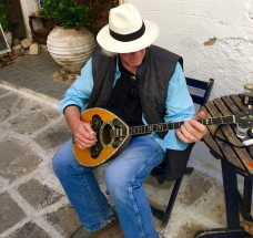 Stephen with his newest addition, a Greek Bouzouki